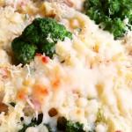 ziemniaczano-brokułowo-serowy zapiekaniec
