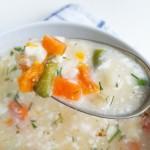 zupa jarzynowa z serem cheddar
