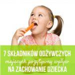 dieta a zachowanie dziecka