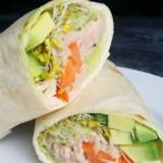 warzywna tortilla w tuńczykiem