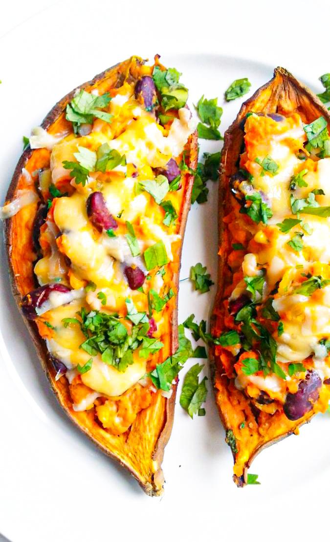 faszerowane słodkie ziemniaki