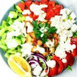 sałatka a'la grecka z kurczakiem
