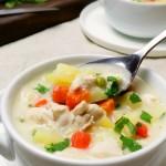 kremowa zupa z kurczakiem i warzywami