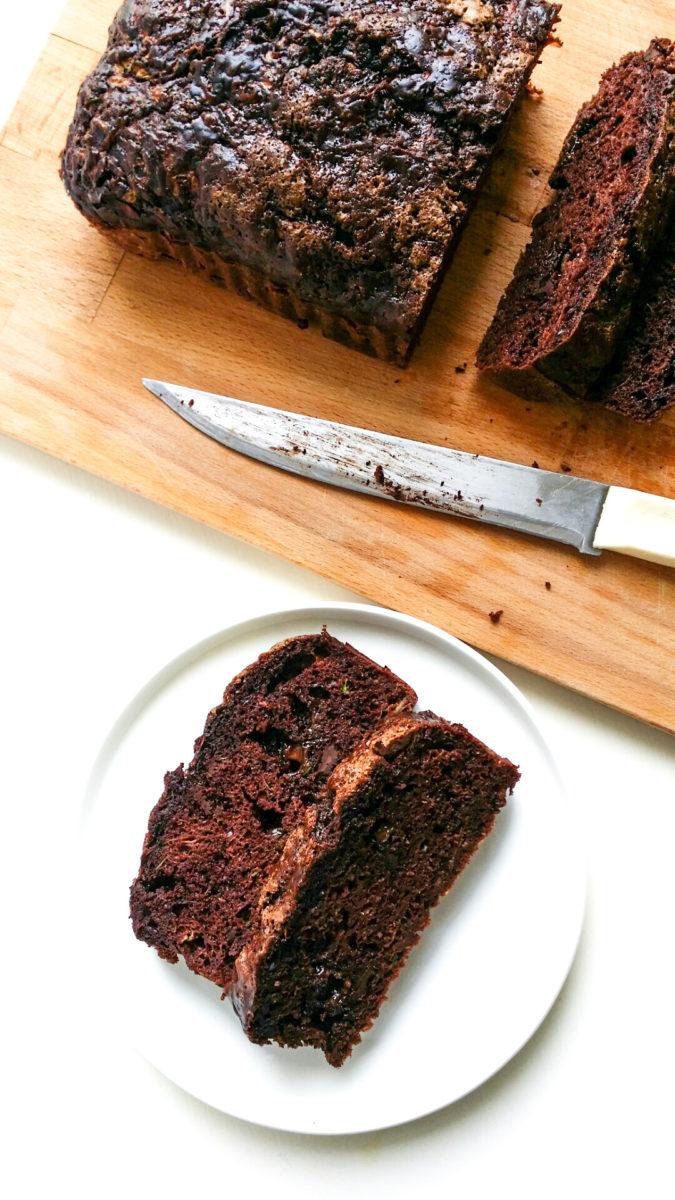 podwójnie czekoladowy chlebek z cukinią