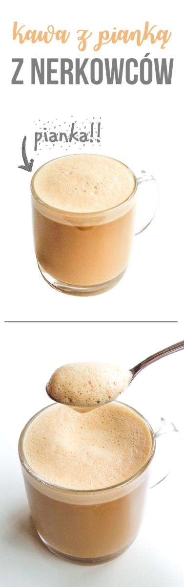 kawa z pianką z nerkowców
