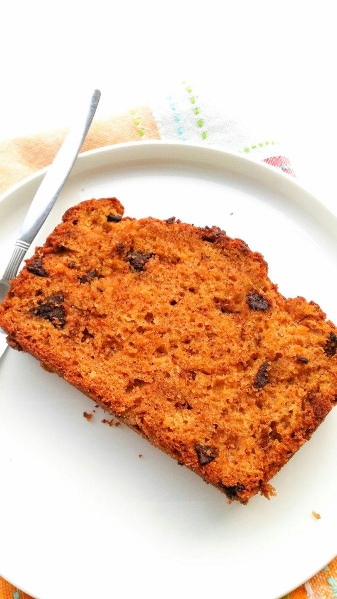 Wilgotne ciasto z dynią i czekoladą