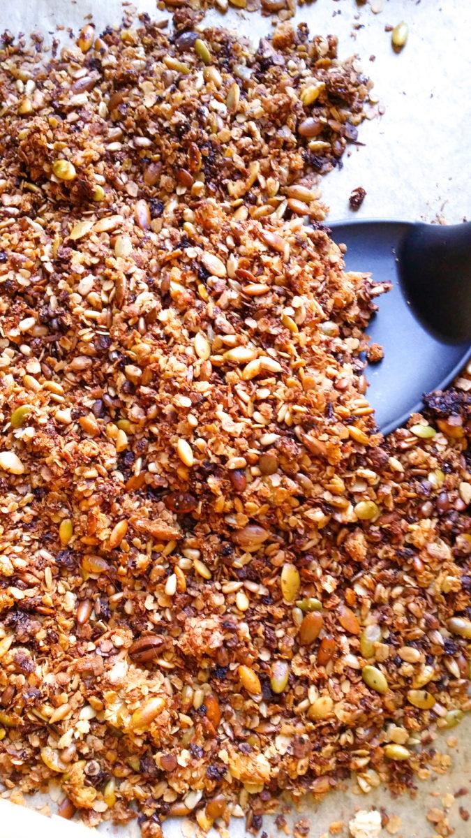 Śniadaniowe musli z truskawkami