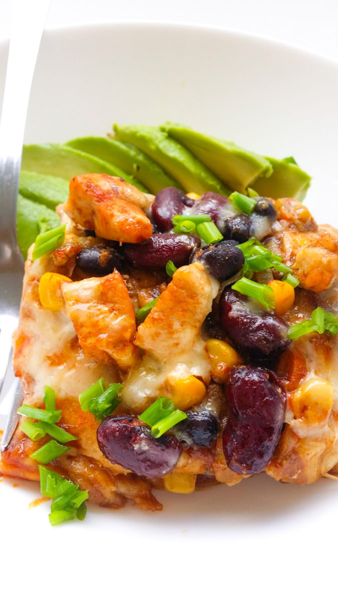 zapiekanka enchilada z kurczakiem