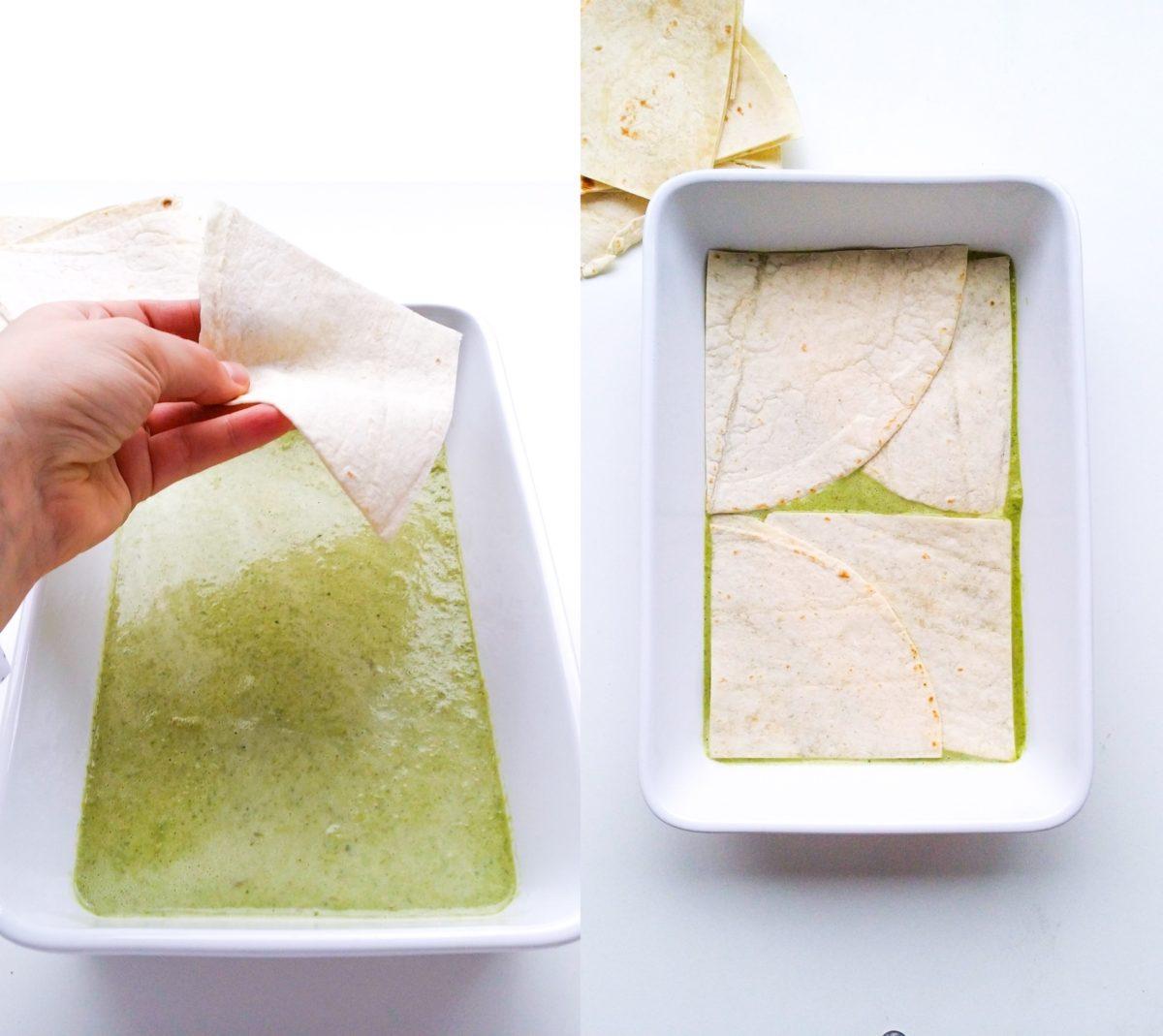 wegetariańska enchilada verde