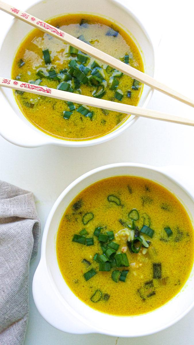 pikantna zupa z krewetkami