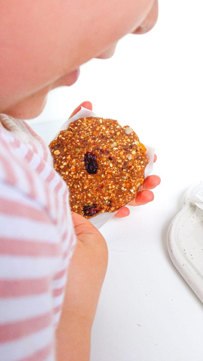 pomarańczowo-żurawinowe ciastka bez pieczenia