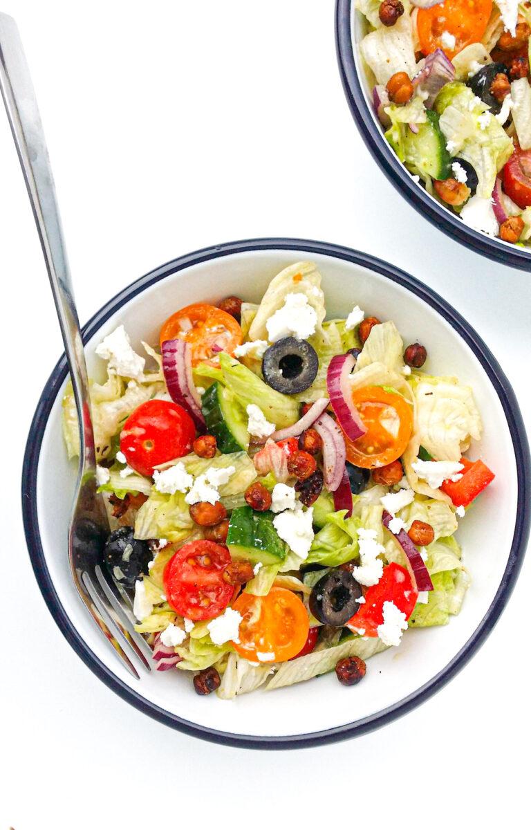 śródziemnomorska sałatka z cieciorką