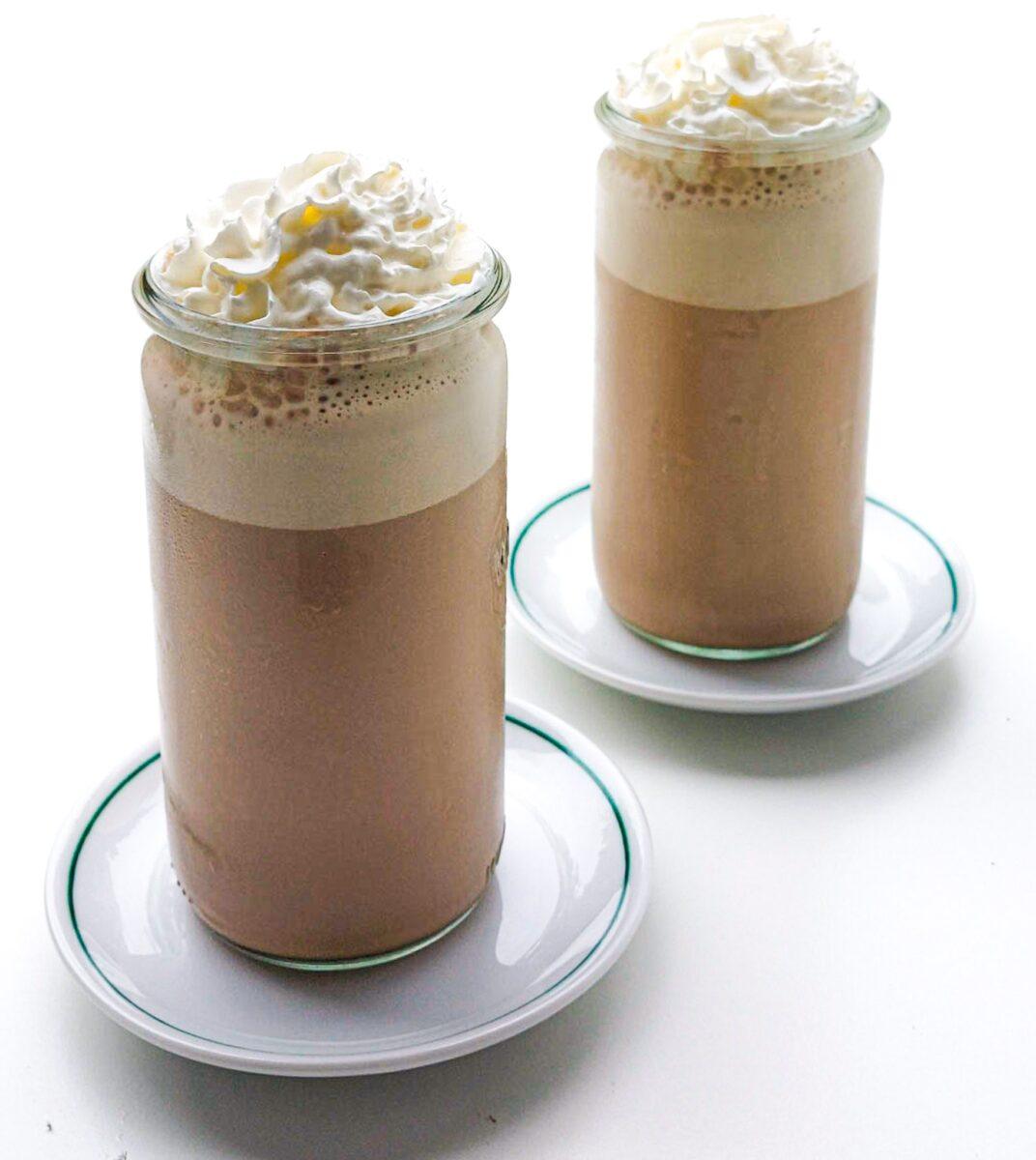 mrożona latte z pianką
