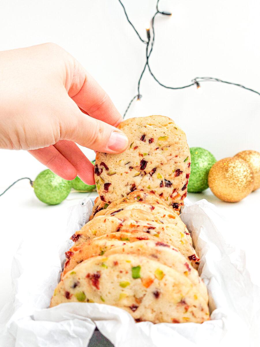 ciasteczka z żurawiną i pistacjami