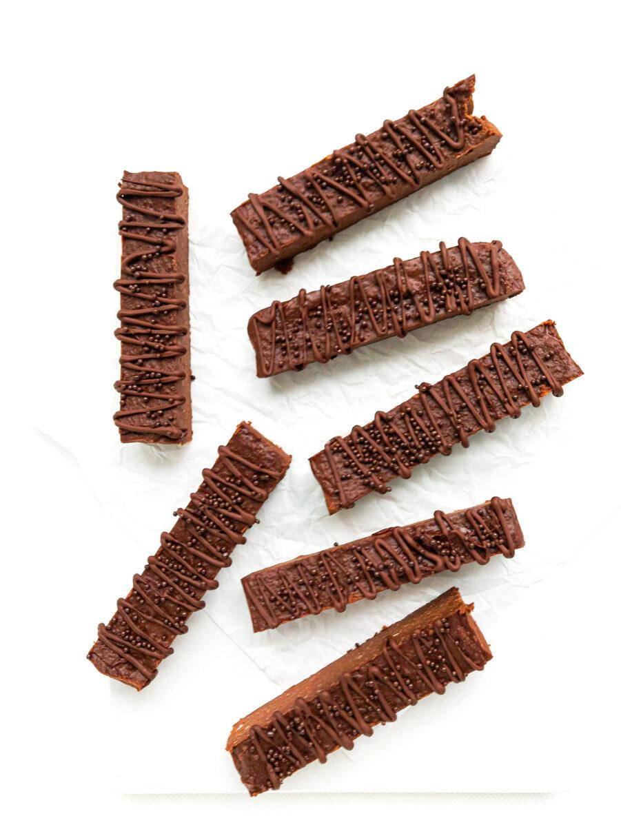 czekoladowe batony z cieciorki