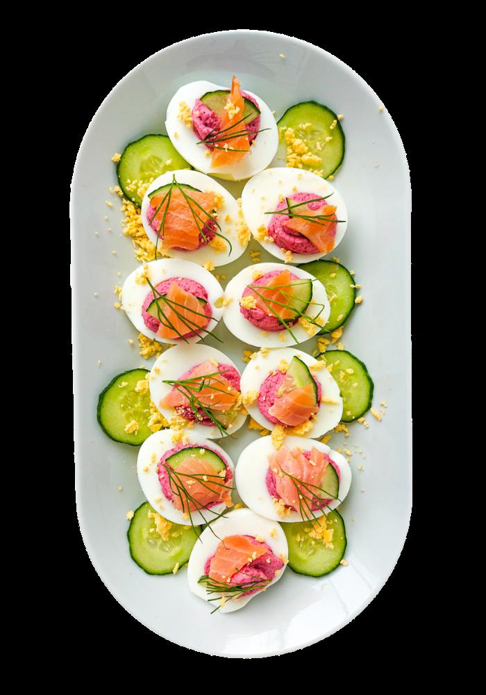 jajka faszerowane z burakiem
