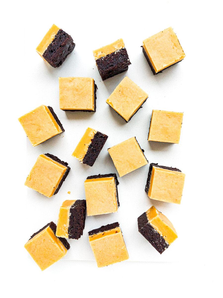 karmelki ze spodem brownie