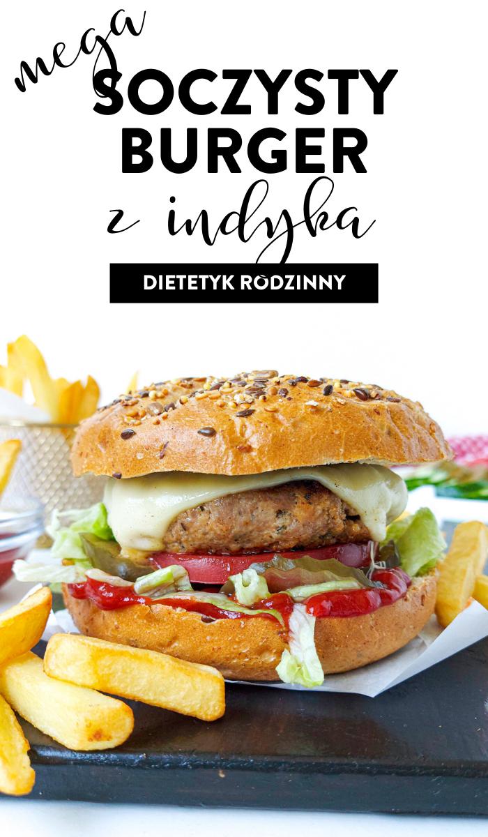 soczysty burger z indyka